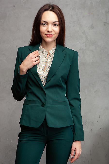 Жакет бутылочного цвета. Деловая женская одежда фото