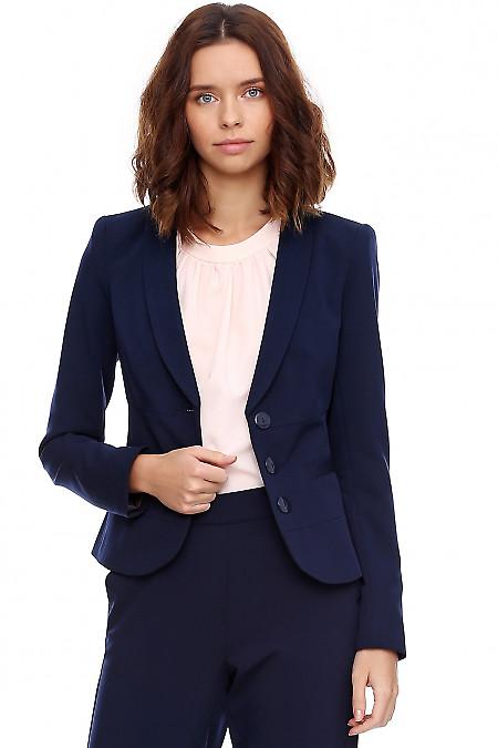 Жакет приталенный синего цвета. Деловая женская одежда