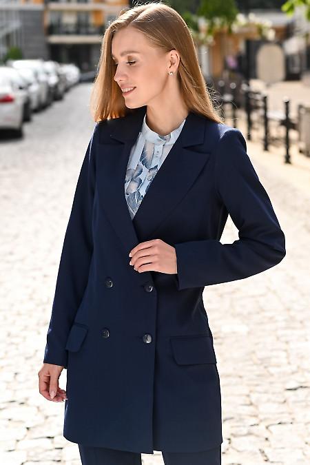 Жакет синего цвета женский фото