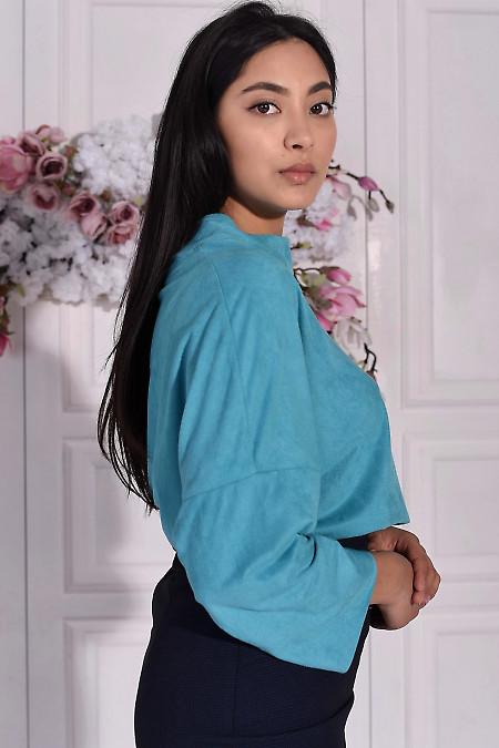 Блуза бирюзового цвета фото