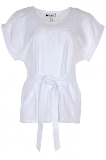 Блузка біла з прошви. Жіночий одяг