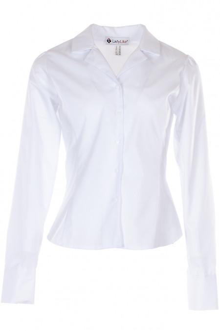 Блузка белая с английским воротником. Деловая Женская Одежда фото