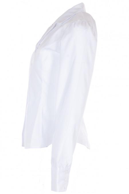 Купить белую классическую блузку с длинным рукавом. Деловая Женская Одежда фото