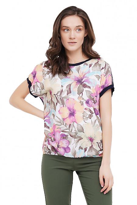 Блузка больших размеров с коротким рукавом Деловая Женская Одежда фото