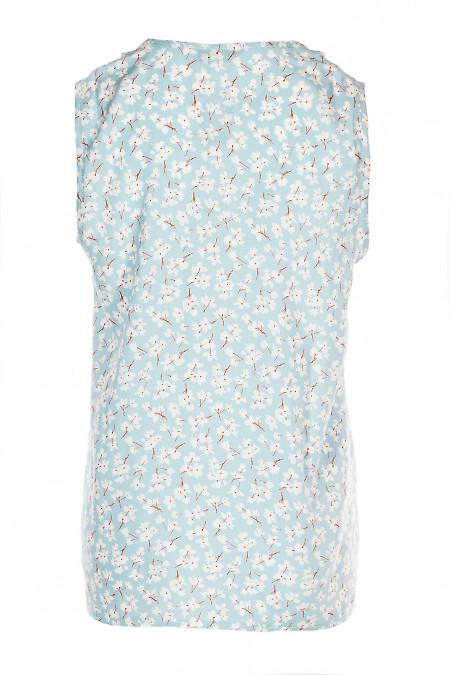 Купити блакитну літню блузку. Діловий жіночий одяг.