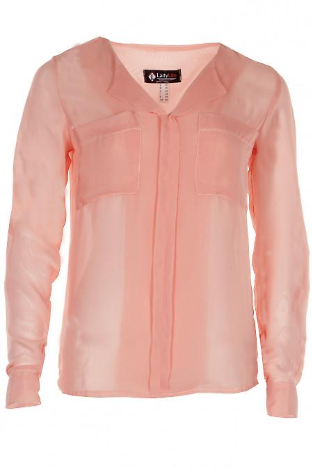 Блузка прозрачная Деловая женская одежда фото