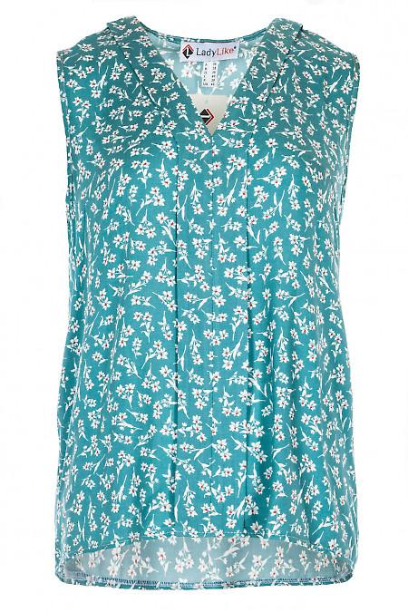 Блузка м'ятна з планкою. Діловий жіночий одяг.