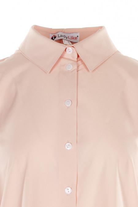 Купить персиковую блузку оверсайз. Деловая женская одежда фото