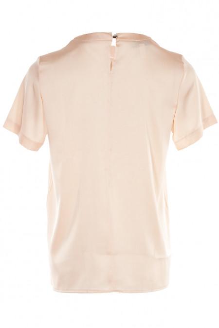 Купить персиковую нарядную блузку. Деловая женская одежда фото