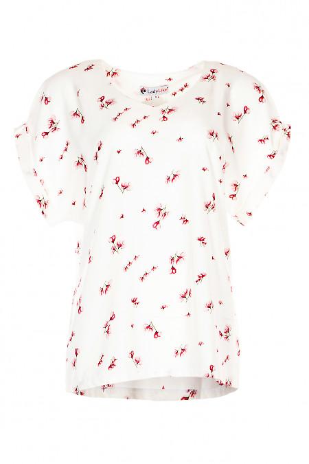Купити ошатну блузку в квіти. Діловий жіночий одяг.