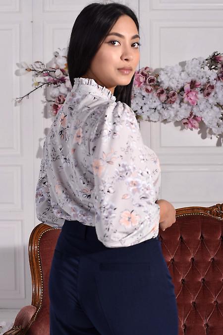 Блуза из софта в цветы
