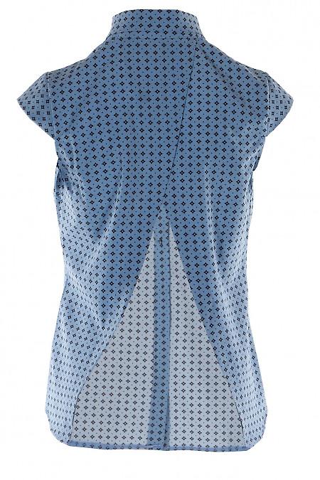 Синяя блуза с открытой спинкой