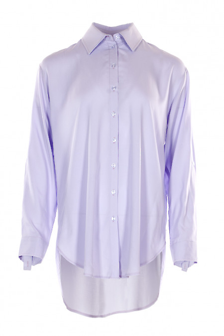 Блузка сиреневая оверсайз. Деловая женская одежда фото