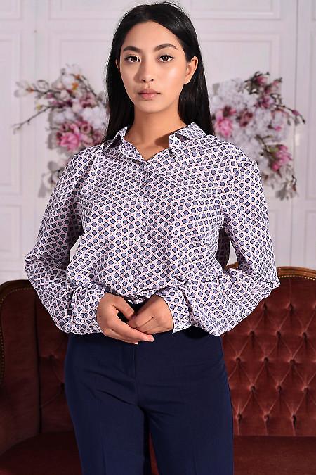 Блуза зі складкою на спині. Діловий жіночий одяг