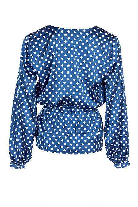 Купити шовкову блузку в горох. Діловий жіночий одяг.