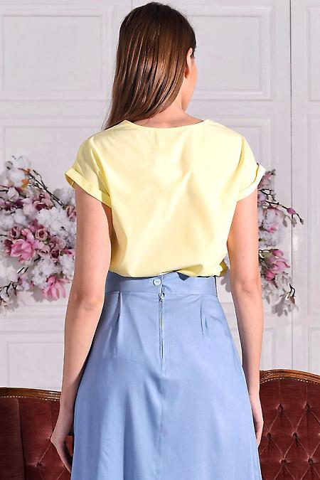 Желтая летняя блуза фото