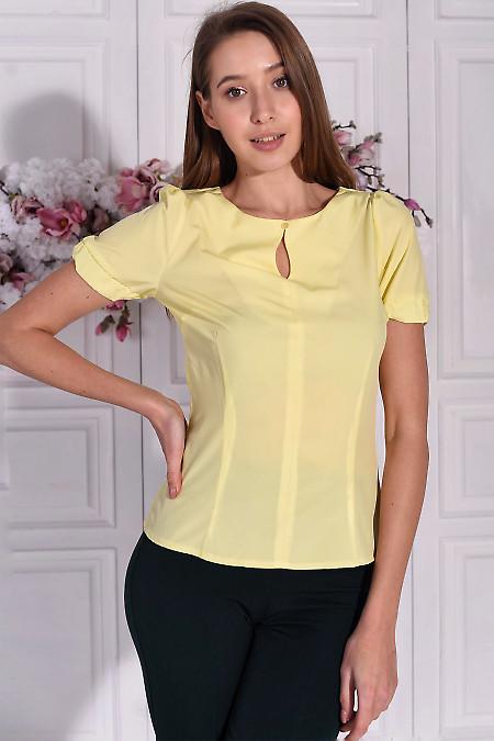 Летняя блузка желтого цвета