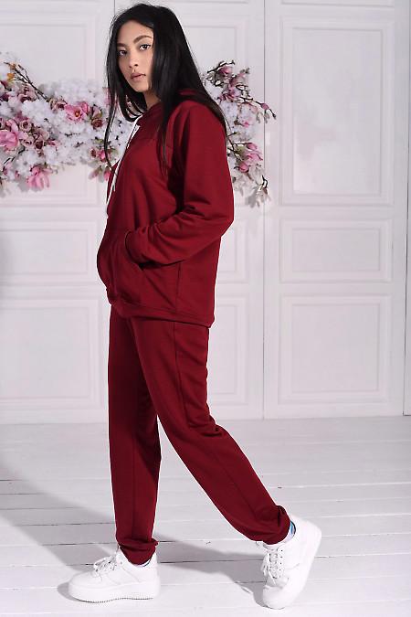 Спортивный костюм бордового цвета