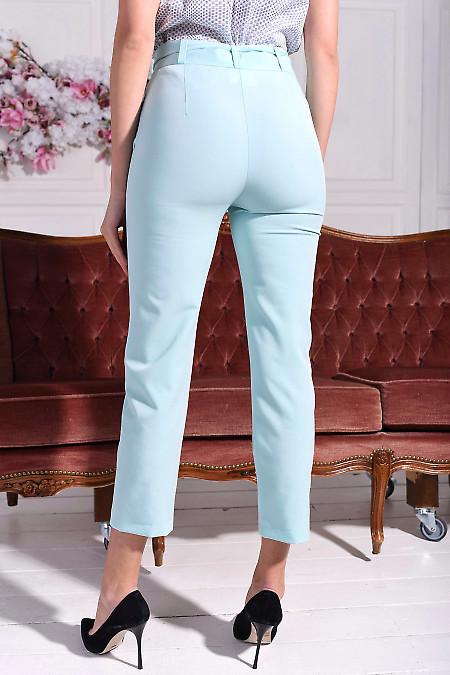 Летние брюки мятного цвета