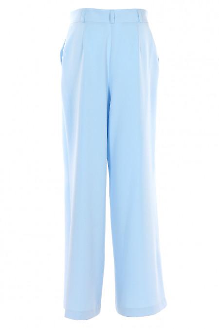 Купити жіночі брюки палаццо блакитні. Діловий жіночий одяг.
