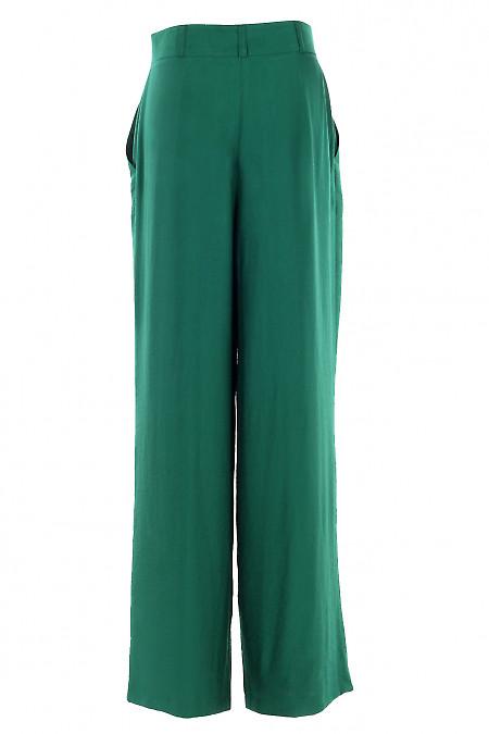 Купити просторі зелені брюки. Діловий жіночий одяг.