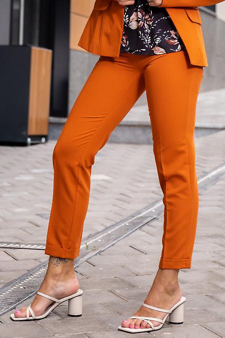 Купить терракотовые женские короткие брюки. Деловая женская одежда фото