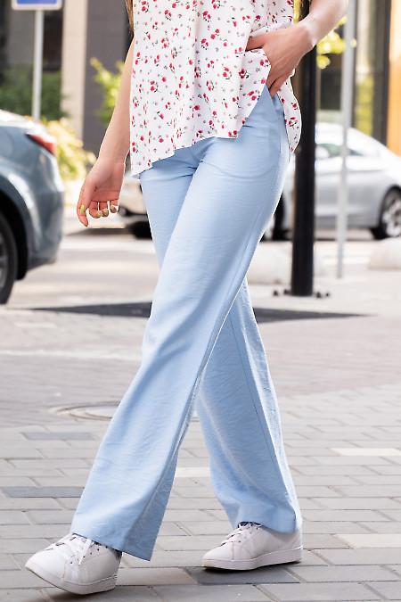 Купить женские брюки летние на резинке. Деловая женская одежда фото
