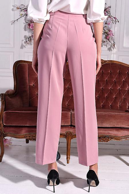 Розовые брюки из костюмной ткани
