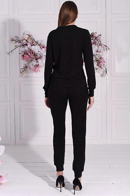 Черный домашний костюм из трикотажа