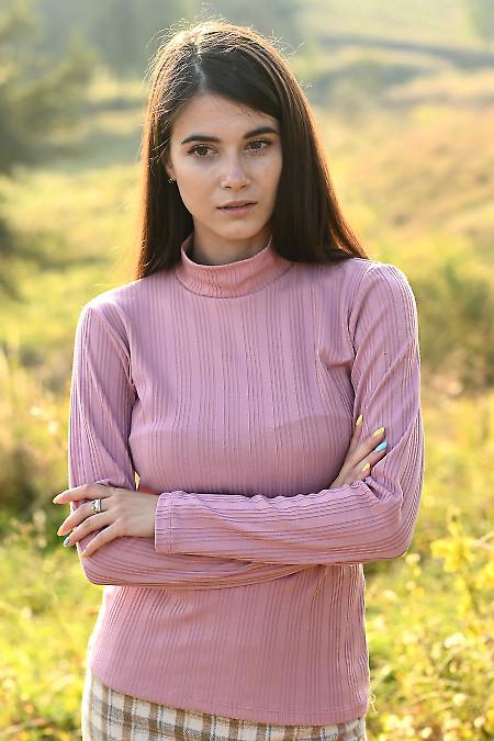 Трикотажний жіночий гольф рожевого кольору. Діловий жіночий одяг