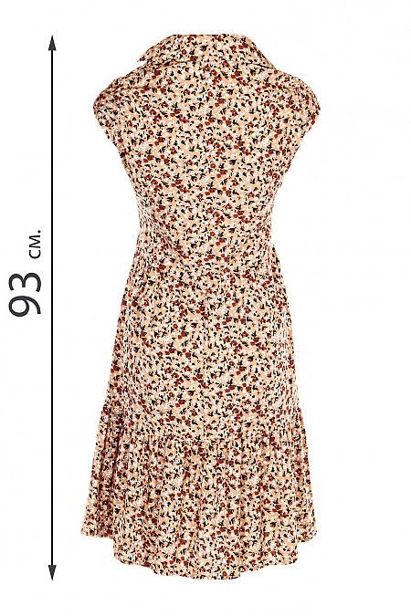 Купити літню сукню бежеву, штапельну. Діловий жіночий одяг.