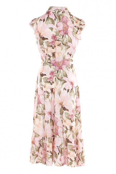 Купить летнее персиковое платье. Деловая женская одежда фото