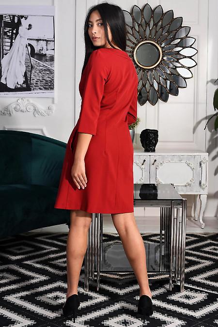 Короткое платье из костюмной ткани