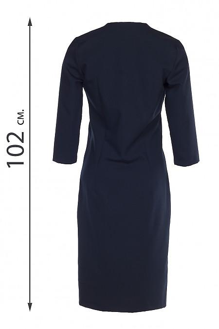 Купить платье чехол темно-синего цвета. Деловая женская одежда фото