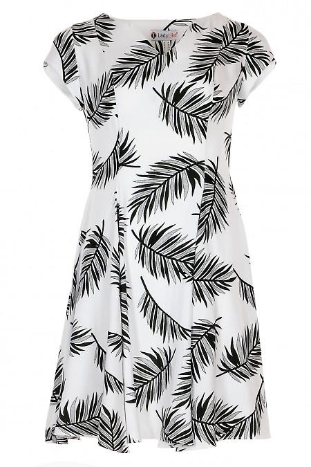 Сукня чорно-біла з льону. Жіночий одяг.