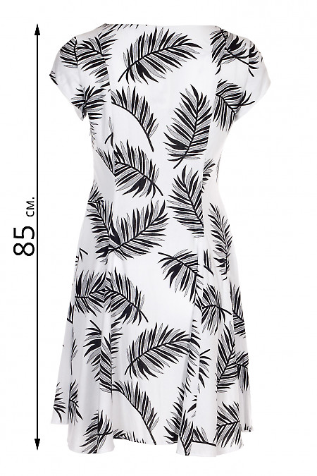 Купити чорно-білу сукню з льону. Жіночий одяг