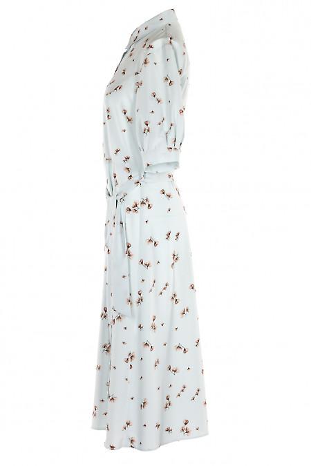 Голубое платье в цветы