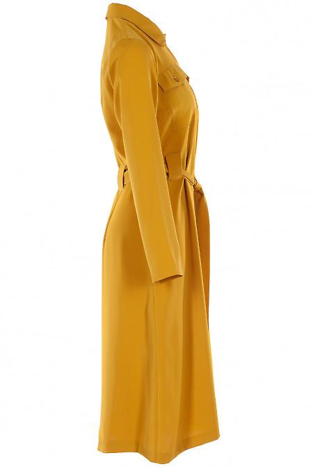 Платье горчичное фото