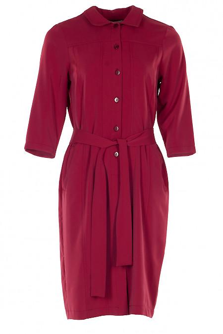 Платье красное шелковистое. Деловая женская одежда