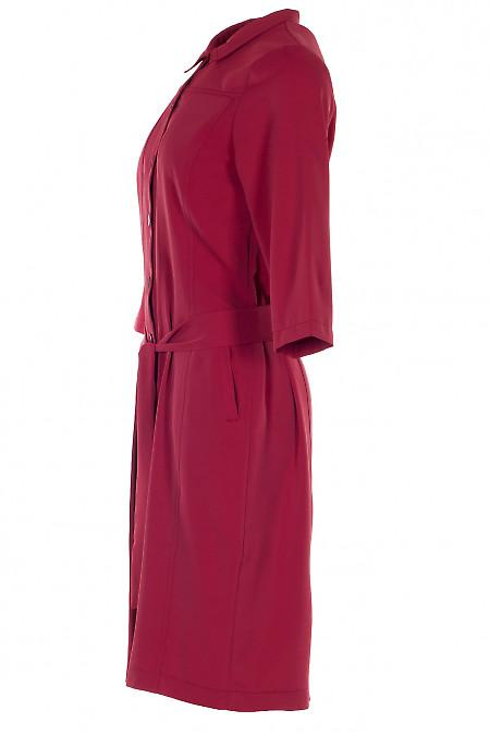 Малиновое платье сафари