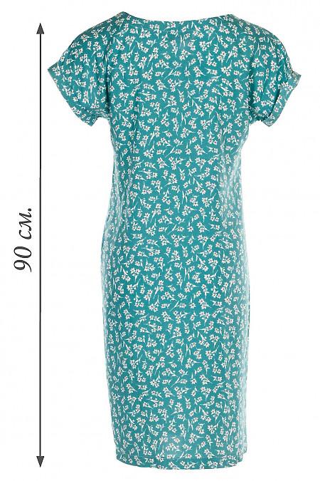 Купить мятное штапельное летнее платье. Деловая женская одежда фото