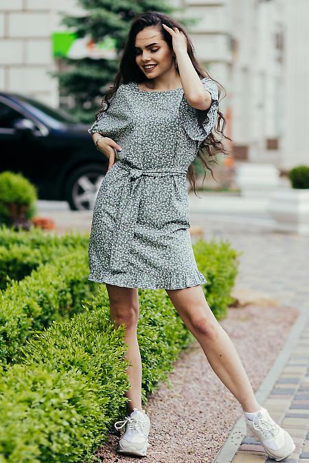 Купить мятное летнее платье. Деловая женская одежда фото