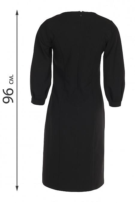 Купить платье нарядное черное со складками. Деловая женская одежда купить