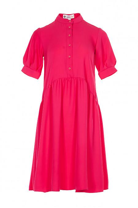 Сукня ошатна малинова простора. Діловий жіночий одяг.