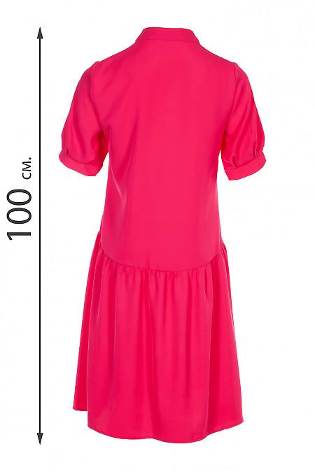 Купити яскраву малинову сукню оверсайз. Діловий жіночий одяг.