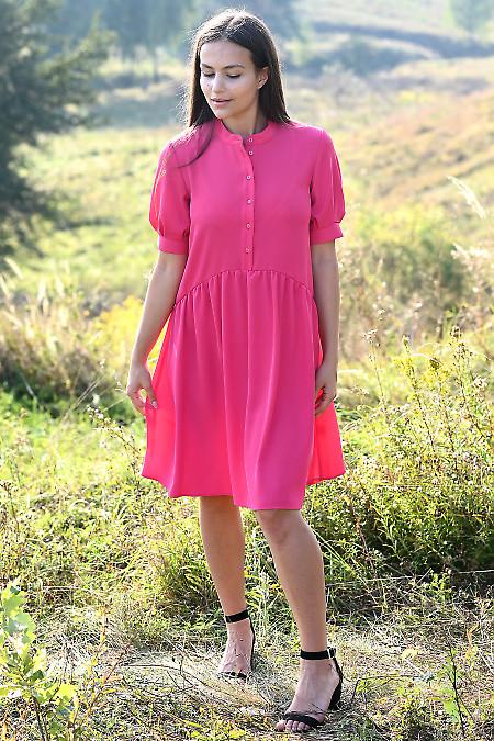 Купити ошатну малинову сукню. Жіночий одяг купити.