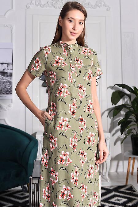 Платье с застежками до пояса
