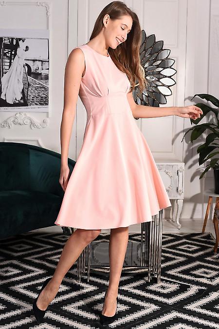 Платье нарядное розовое фото