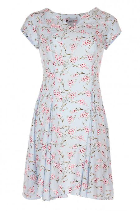 Сукня шестиклинна голуба. Жіночий одяг.
