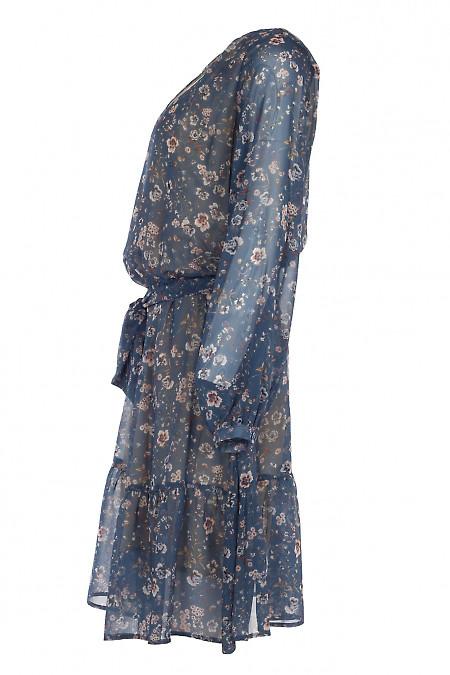 Купить шифоновое платье с длинным рукавом. Деловая женская одежда фото